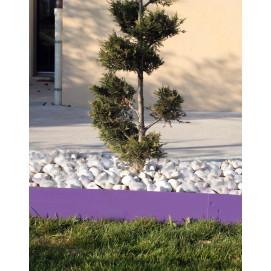 Bordure de jardin en acier lilas H 14 cm