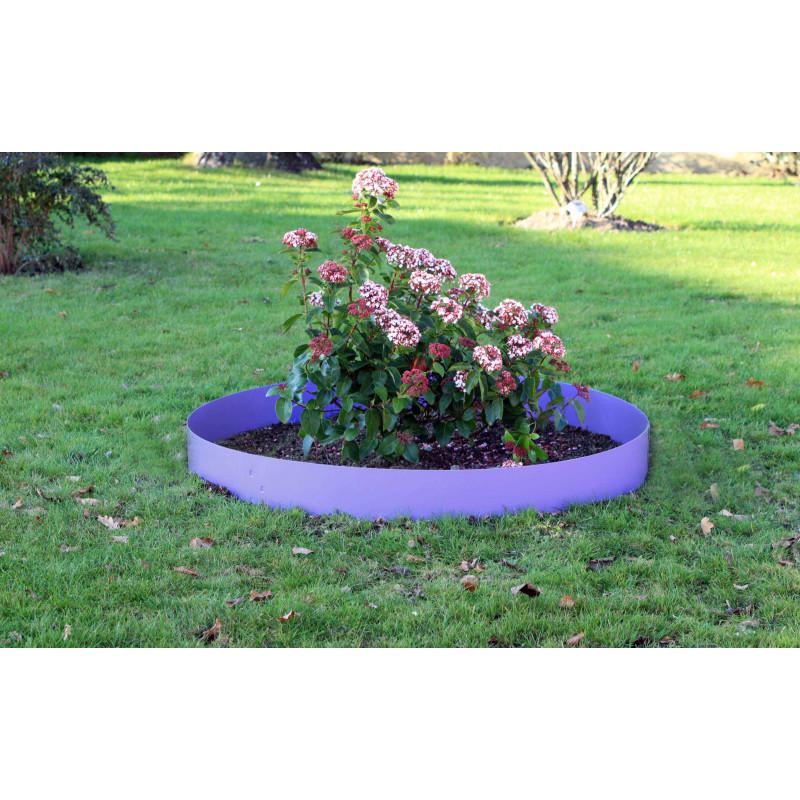 Votre Bordure de jardin en acier couleur lilas, d\'une hauteur de 14 cm