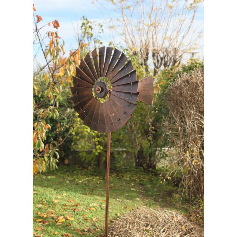 Girouette de toit coq et éolienne en métal - Jardin et Saisons