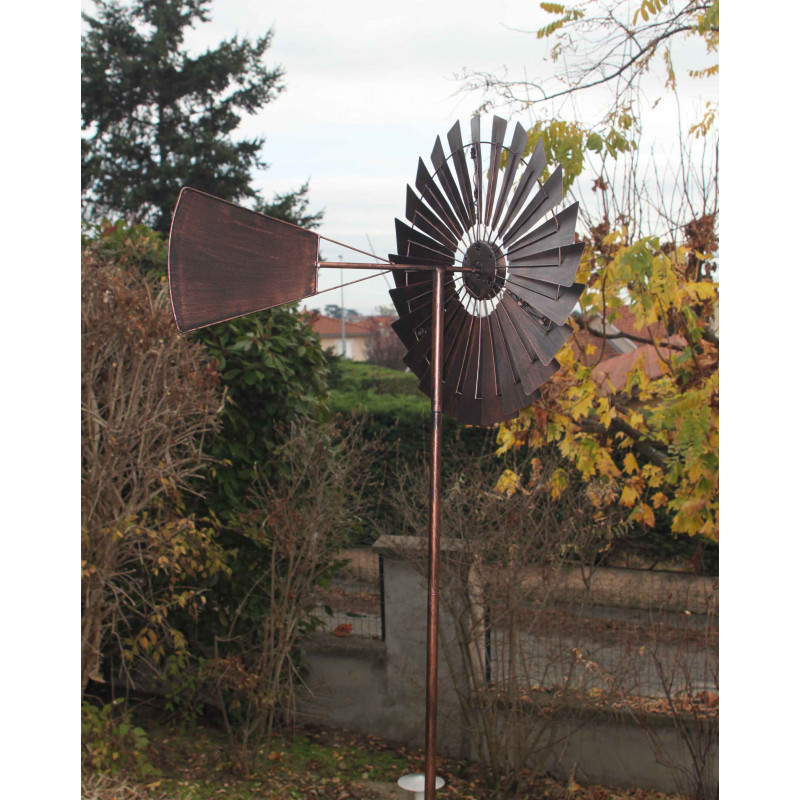 L 39 olienne d corative solaire style us sur jardin et saisons for Deco metal jardin