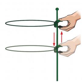 Tuteur 1 support 1 m avec un anneau cercle diamètre 32 cm