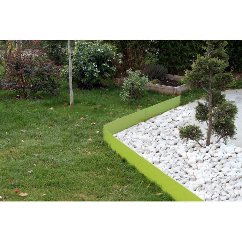 bordure de jardin en acier vert anis hauteur 14 cm jardin et saisons. Black Bedroom Furniture Sets. Home Design Ideas