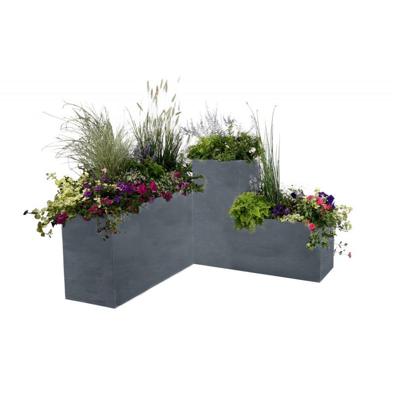 ensemble 3 bacs fleurs jardin et saisons. Black Bedroom Furniture Sets. Home Design Ideas