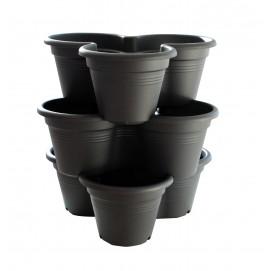 Pots de fleurs en cascade 3 niveaux