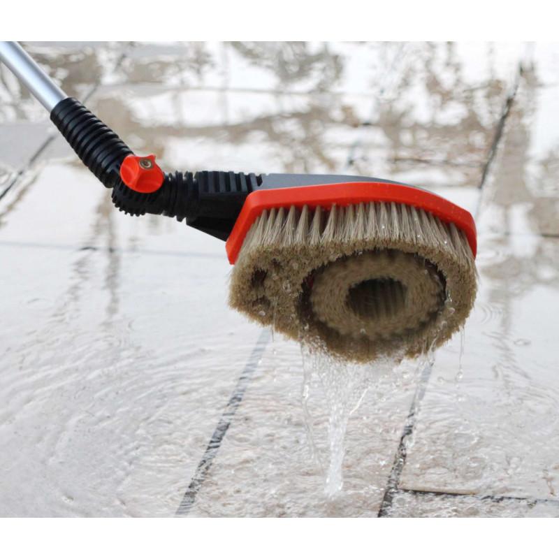 Brosse de nettoyage rotative pour terrasse ou voiture - Brosse rotative nettoyage ...