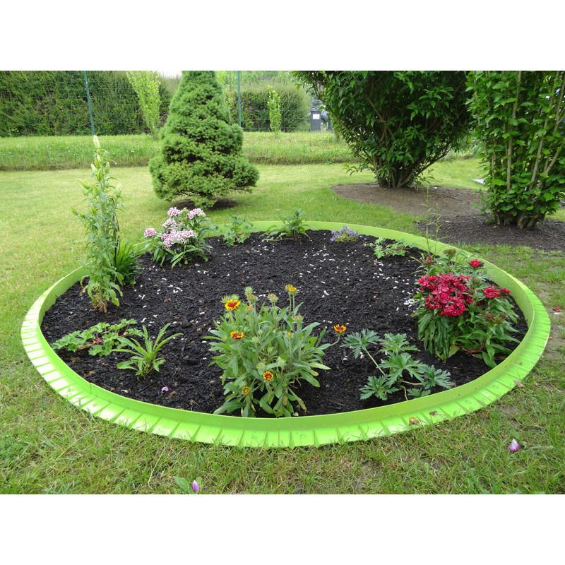 Bordure de gazon stop herbe avec rebord surélevé - Jardin et Saisons