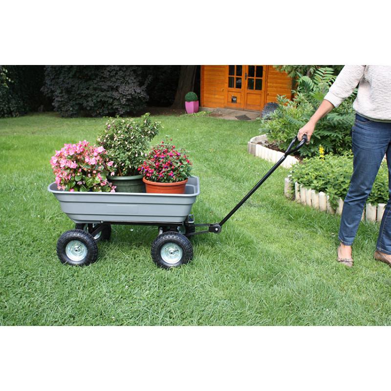 chariot de jardin 4 roues grand volume jardin et saisons. Black Bedroom Furniture Sets. Home Design Ideas