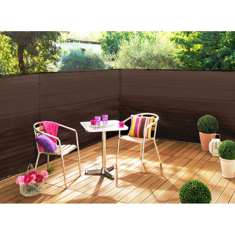 brise vue brun 3 m x 1 m. Black Bedroom Furniture Sets. Home Design Ideas
