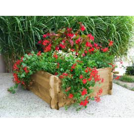 Maxi carré potager en bois non traité H 33 cm