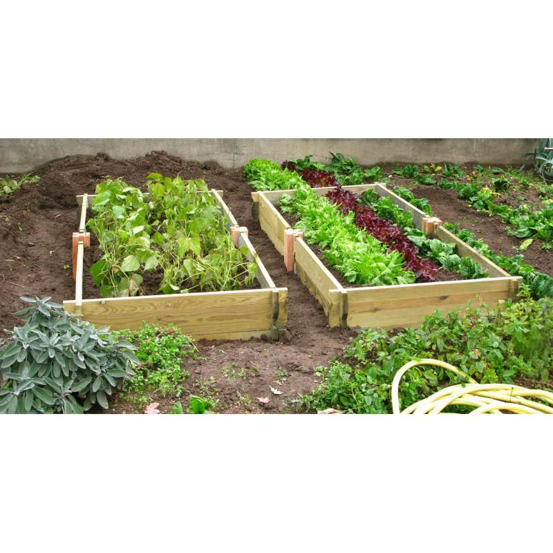 Carr de jardin rectangulaire en bois non trait for Carre de jardin en bois