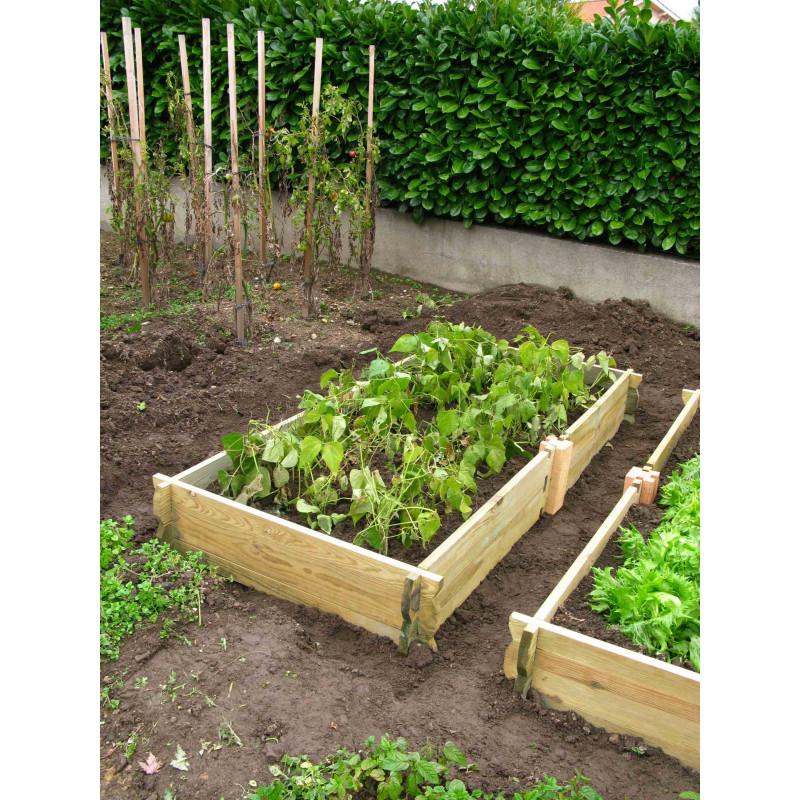 Potager de jardin rectangulaire en bois non traité