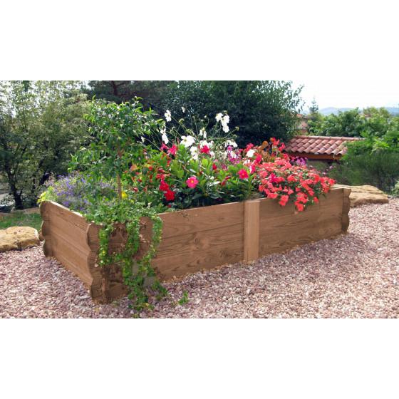 Maxi potager de jardin rectangulaire en bois non traité