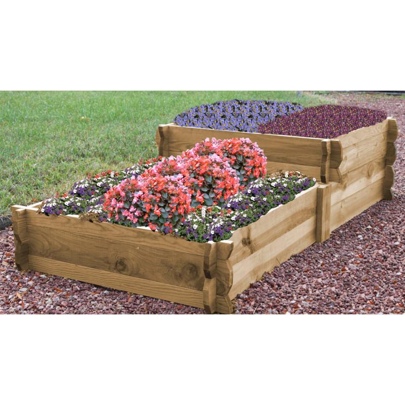 Potager escalier en bois douglas non trait chez jardin et saisons for Jardin en carre fabrication