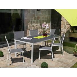 Table de jardin aluminium Galane gris