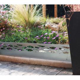 Bordure de jardin en acier galvanisé brut ajourée H 18 cm