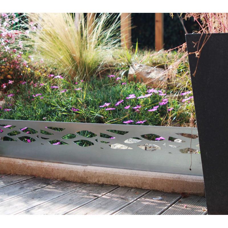 Bordure de jardin en acier galvanis brut ajour e de jardin et saisons - Bordure de jardin metallique ...