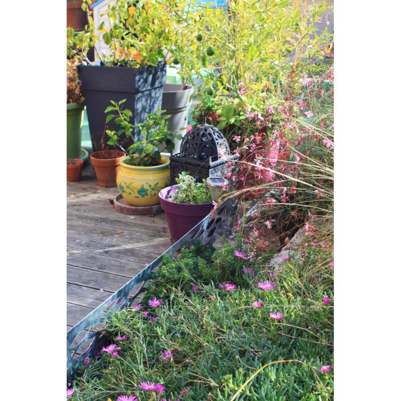 Bordure de jardin en acier galvanis castorama id es sur for Bordure metal jardin castorama