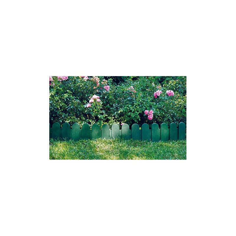 Bordure de jardin verte pvc type cloture jardin et saisons for Bordure de jardin en bambou
