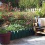 Bordure de jardin en plastique vert H 20 cm