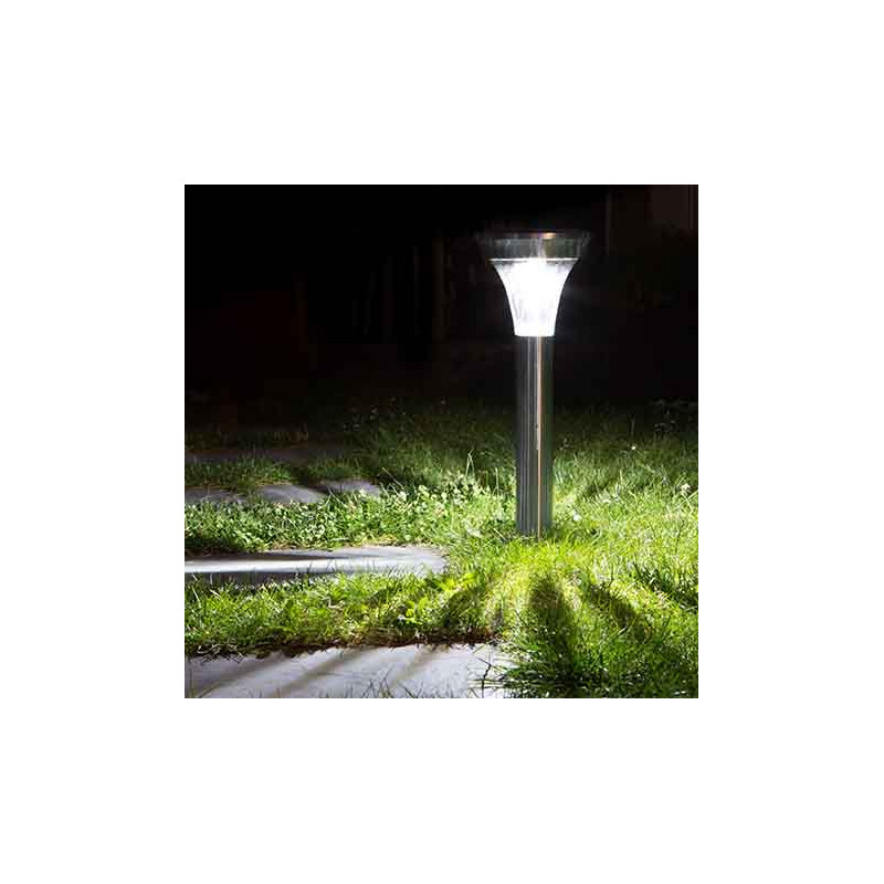 Best lampe solaire jardin inox images amazing house for Lampe led jardin