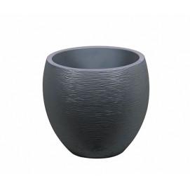 Pot de fleurs rond 46 litres gris anthracite