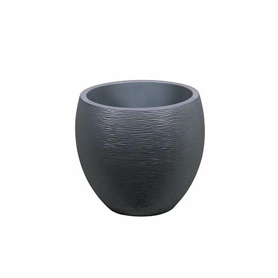 votre pot de fleurs rond 46 litres gris anthracite. Black Bedroom Furniture Sets. Home Design Ideas
