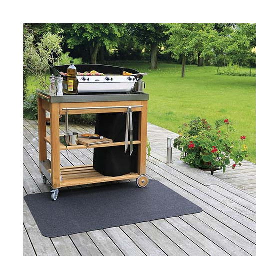 tapis de protection de sol pour plancha jardin et saisons. Black Bedroom Furniture Sets. Home Design Ideas