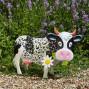 Vache décorative solaire en métal
