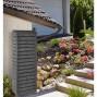 Récupérateur d'eau de pluie mural aspect bois 300 litres