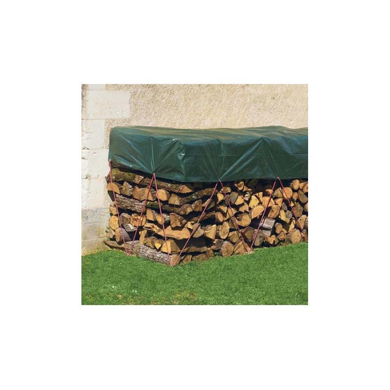 Bache de protection bois de chauffage jardin et saisons - Bache pour bois de chauffage ...