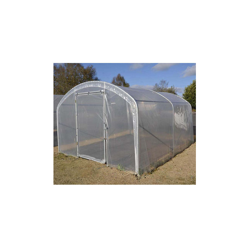 serre tunnel de jardin pied droit 2 portes jardin et saisons. Black Bedroom Furniture Sets. Home Design Ideas