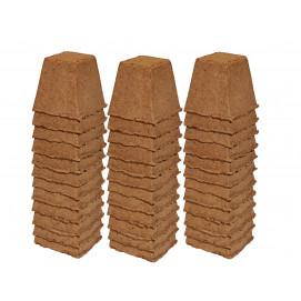 36 pots godets carrés biodégradables 8 cm