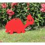 Figurine en métal d'une tortue rouge à planter