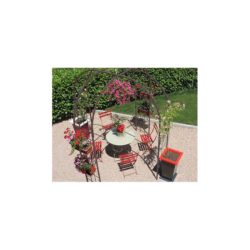 Votre gloriette de jardin en acier fer vieilli chez jardin for Jardinetsaisons