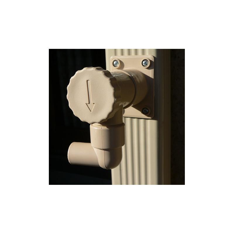 R cup rateur d 39 eau de pluie pour goutti re rectangulaire - Collecteur d eau de pluie pour gouttieres ...