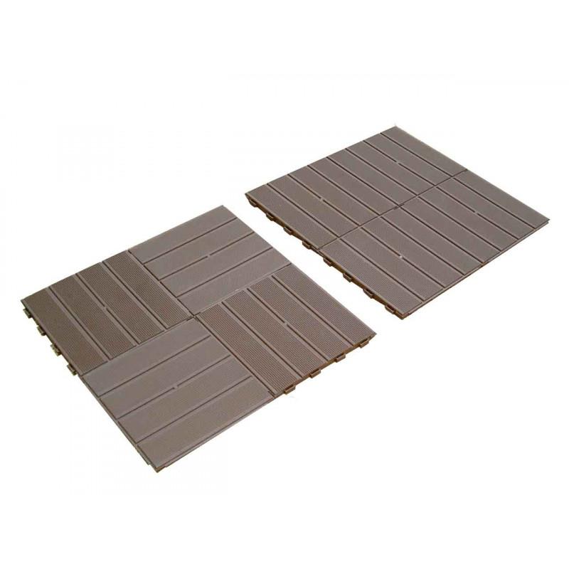 votre dalle de terrasse clipsable marron fonc de jardin et saisons. Black Bedroom Furniture Sets. Home Design Ideas