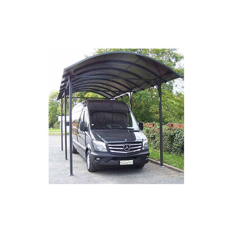 votre carport en aluminium gris pour camionnette camping. Black Bedroom Furniture Sets. Home Design Ideas