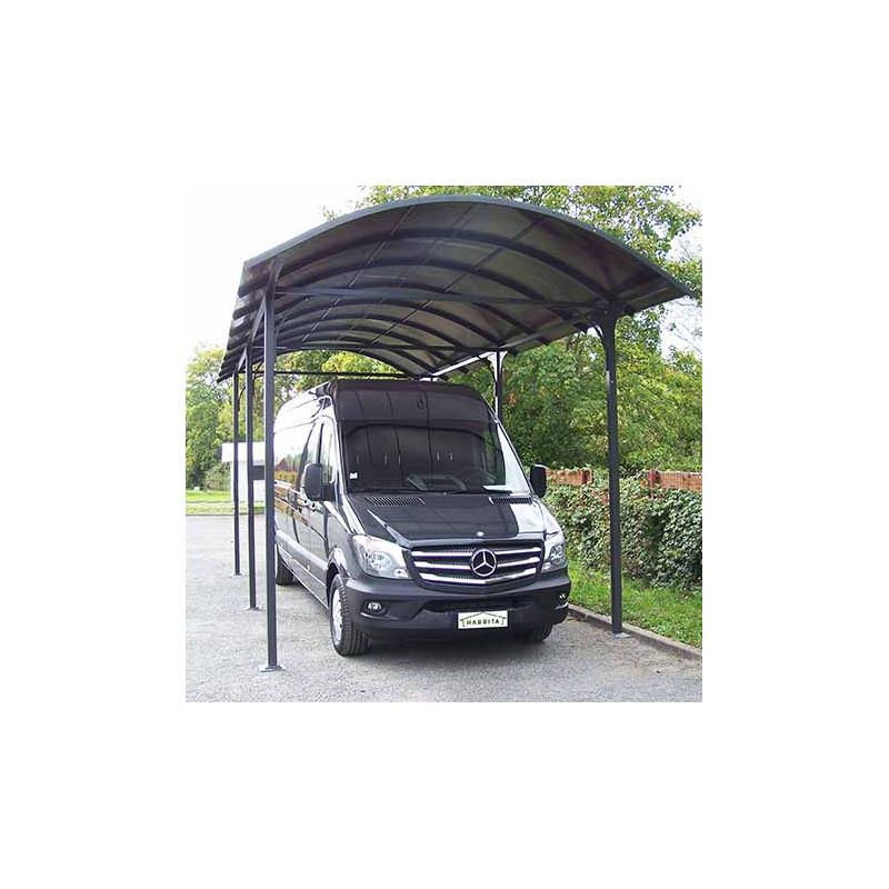 votre carport en aluminium gris pour camionnette camping car caravane. Black Bedroom Furniture Sets. Home Design Ideas