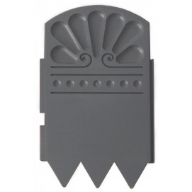 Bordure décorative de jardin gris anthracite