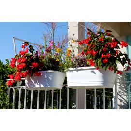Jardiniere balconnière blanche avec support