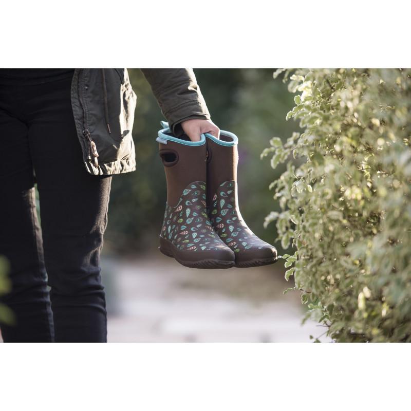 bottes de pluie femme marron en caoutchouc chez jardin et saisons. Black Bedroom Furniture Sets. Home Design Ideas