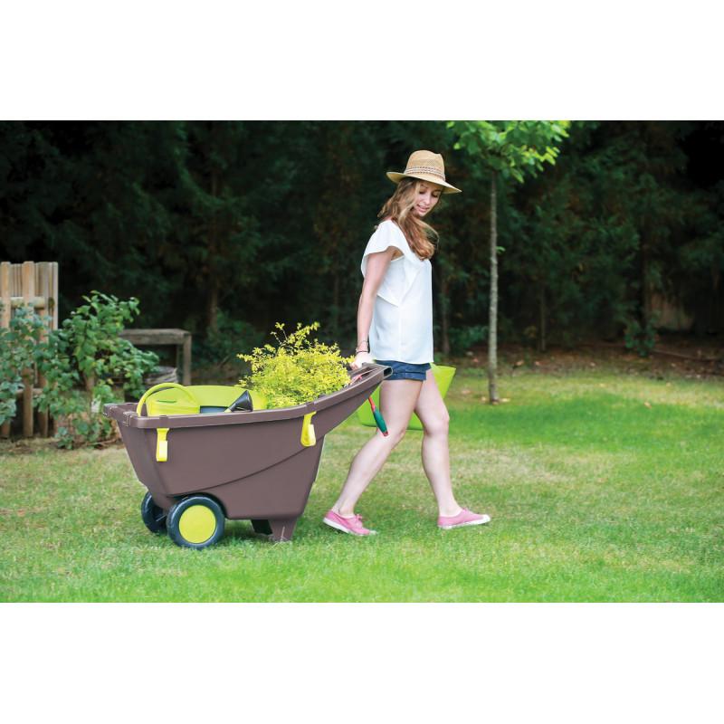 Chariot brouette de jardin 140 litres jardin et saisons for Brouette jardin