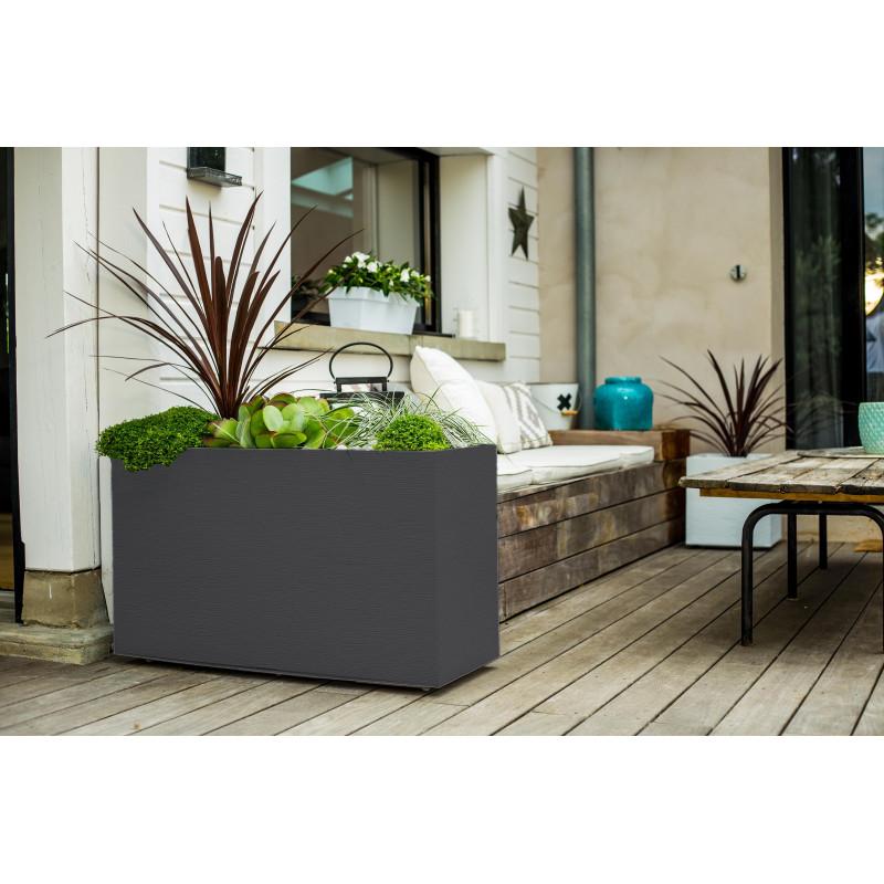 bac fleurs rectangulaire haut 116 litres jardin et saisons. Black Bedroom Furniture Sets. Home Design Ideas