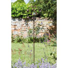 Eolienne décorative de jardin en métal et solaire déco planète