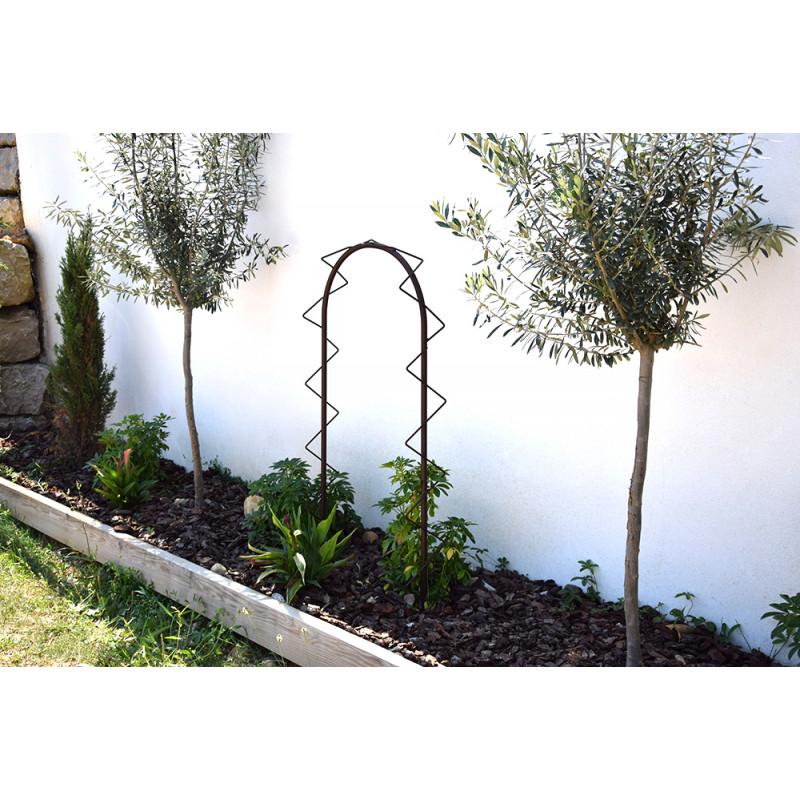 petite arche de jardin pour plantes grimpantes en acier fer vieilli. Black Bedroom Furniture Sets. Home Design Ideas