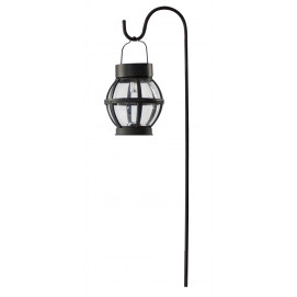 Lanterne solaire en verre esprit vintage 1 LED blanche