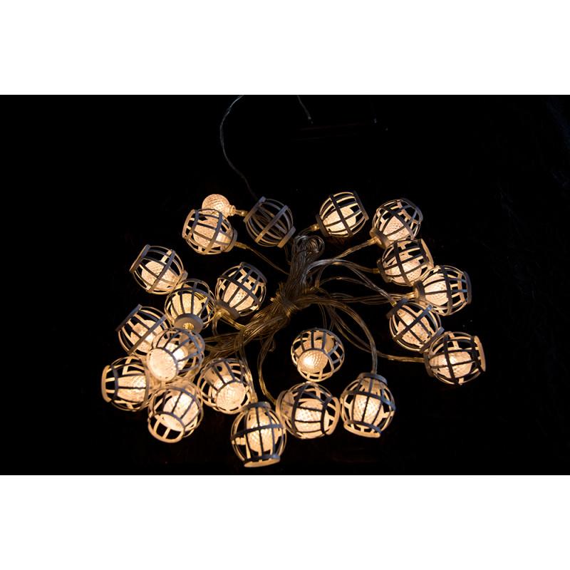 guirlande solaire lampions blancs 3 80 m chez jardin et. Black Bedroom Furniture Sets. Home Design Ideas