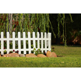 Bordure de jardin en plastique blanc H 40 cm