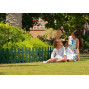 Bordure de jardin en plastique vert H 40 cm