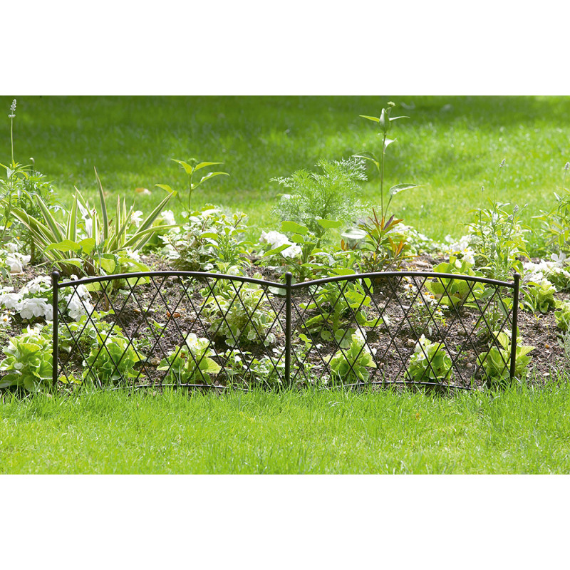 Bordure de jardin m tallique 1 m tre for Bordure jardin metallique